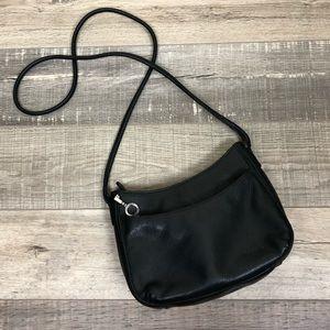 FOSSIL | Small Black Leather Crossbody Mini Bag
